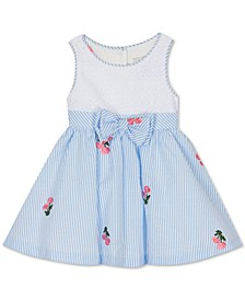 Baby Girls Eyelet Seersucker Dress
