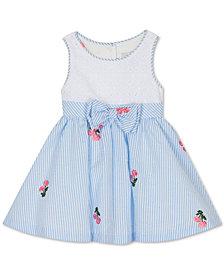 Rare Editions Baby Girls Eyelet Seersucker Dress