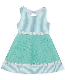 Rare Editions Baby Girls Eyelet Seersucker Dress