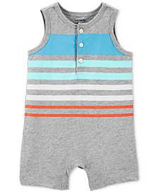 Carter's Baby Boys Striped Cotton Tank Romper
