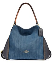 COACH Edie Denim Shoulder Bag