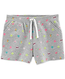 Carter's Little Girls Butterfly-Print Cotton Shorts