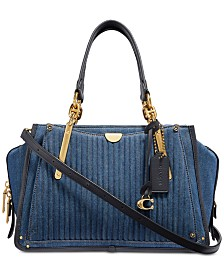 COACH Denim Quilted Dreamer Satchel