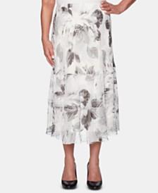 Alfred Dunner Versailles Printed Midi Skirt
