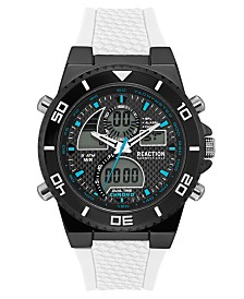 Kenneth Cole Reaction Men's Analog-Digital White Silicone Strap Watch 46mm