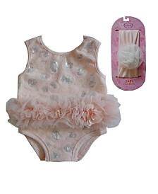 Soft Cotton Champagne Baby Bodysuit