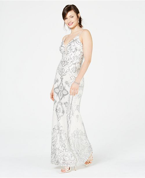 f20a2ff9bc0 Betsy   Adam Embellished Illusion-Inset Gown   Reviews - Dresses ...