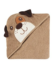 Luvable Friends Animal Face Hooded Towel, One Size
