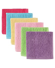 Washcloths, 6-Pack, One Size