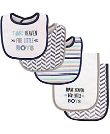 Bibs and Burp Cloth, 5-Piece Set, One Size