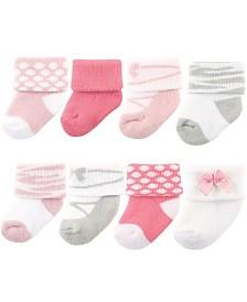 Luvable Friends Newborn Socks, 8-Pack, 0-12 Months