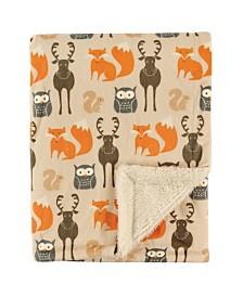 Hudson Baby Mink/Sherpa Blanket, One Size