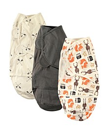 Swaddle Wrap, 3-Pack, 0-3 Months