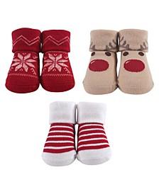 Socks Gift Set, 3-Pack, 0-9 Months