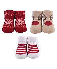 Hudson Baby Socks Gift Set, 3-Pack, 0-9 Months