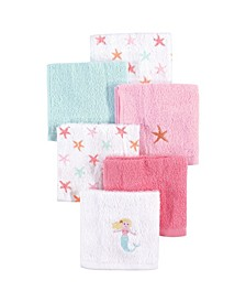 Woven Terry Washcloths, 6-Pack, One Size