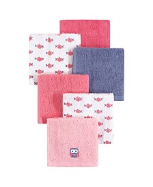 Hudson Baby Woven Terry Washcloths, 6-Pack, One Size