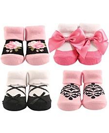 Socks Gift Set, 4-Pack, 0-9 Months