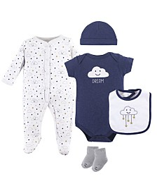 Hudson Baby Clothing Set, 5-Piece, 0-9 Months