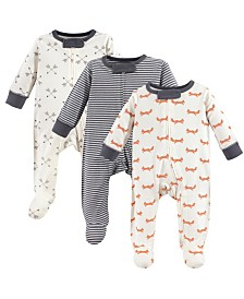 Touched By Nature Organic Cotton Sleep and Play, 3-Pack, 0-9 Months