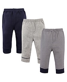 Toddler Boys and Girls Stripe Pants, Pack of 3