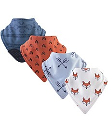 Bandana Bibs with Teether, 4-Pack, One Size