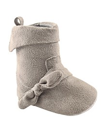Fold Over Boots, Grey, 0-6 Months