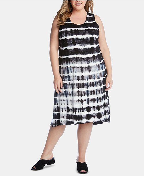 d7bc119d09c Karen Kane Plus Size Tie-Dyed High-Low Dress   Reviews - Dresses ...