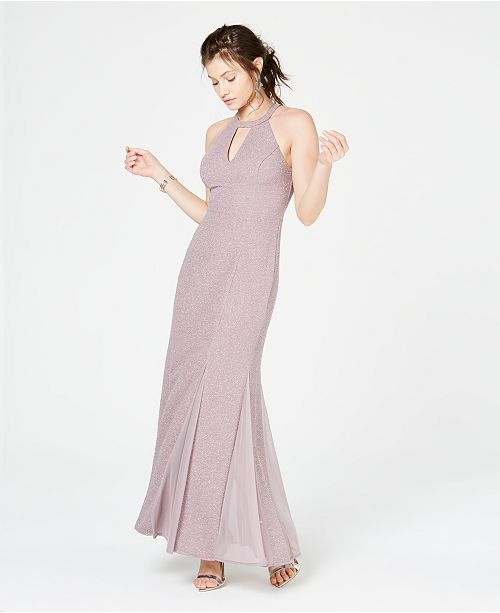 0a4db910b99 Nightway Glitter-Knit Teardrop Gown   Reviews - Dresses - Women - Macy s