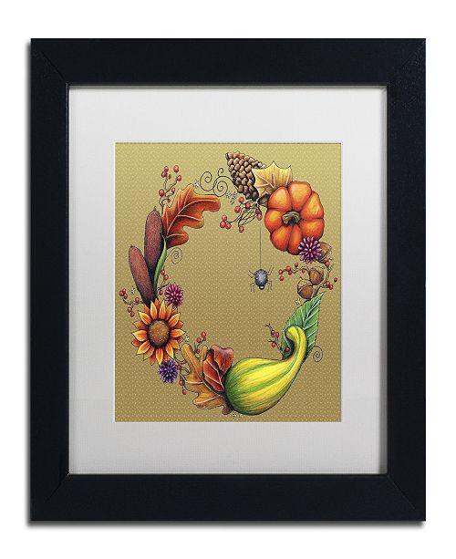 """Trademark Global Jennifer Nilsson Season of Blessings-Autumn Matted Framed Art - 16"""" x 20"""" x 0.5"""""""