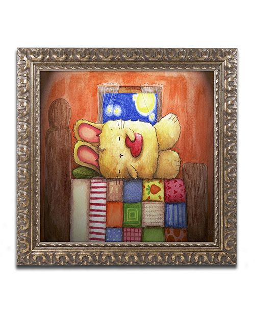 "Trademark Global Jennifer Nilsson Sweet Dreams Bunny Ornate Framed Art - 16"" x 20"" x 0.5"""