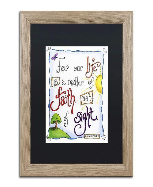 "Trademark Global Jennifer Nilsson Words of Faith - Faith Not Sight Matted Framed Art - 24"" x 32"" x 2"""