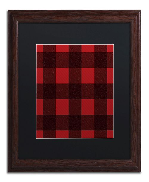 "Trademark Global Jennifer Nilsson Red Buffalo 2 Matted Framed Art - 11"" x 14"" x 0.5"""