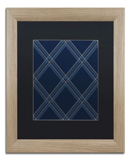 "Trademark Global Jennifer Nilsson Dk Blue Diamond Matted Framed Art - 11"" x 14"" x 0.5"""
