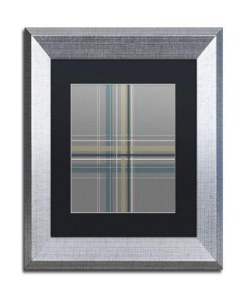 "Trademark Global Jennifer Nilsson Silver Blue Dark Matted Framed Art - 16"" x 20"" x 0.5"""