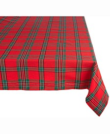 "Holiday Plaid Tablecloth 60"" x 120"""