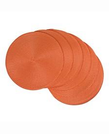 Round Polypropylene Woven Placemat, Set of 6