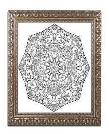"Kathy G. Ahrens Sublime Mandala Ornate Framed Art - 16"" x 16"" x 0.5"""