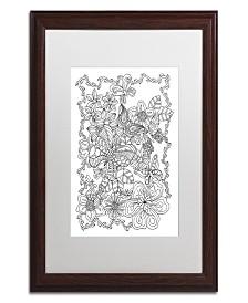 """Kathy G. Ahrens Butterflies Matted Framed Art - 16"""" x 16"""" x 0.5"""""""