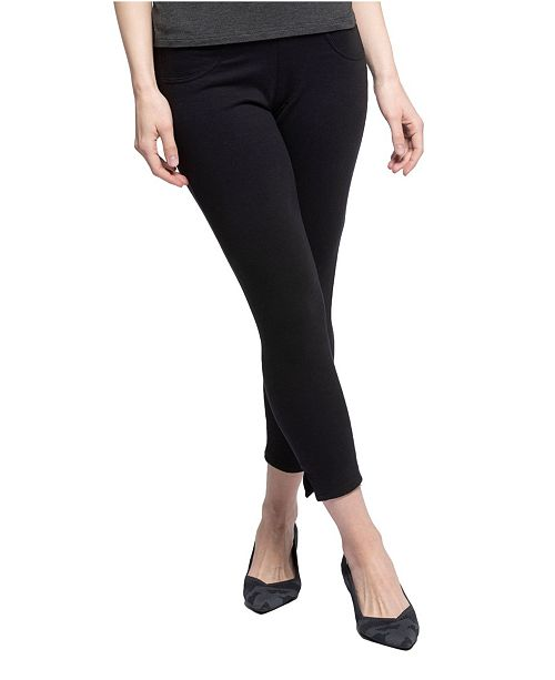 YALA Designs YALA Audrey Organic Cotton and Viscose from Bamboo Cropped Pull-on Ankle Pant