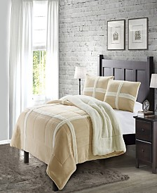 Dalton Queen Sherpa 3 Piece Comforter Set
