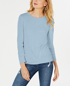 I.N.C. Plus Size Pleat-Front Sweater, Created for Macy's