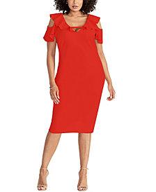 RACHEL Rachel Roy Off the Shoulder Ruffle Dress