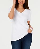 1bf9597a47962a Karen Scott Cotton Embroidered Scalloped T-Shirt