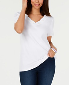 f26fff7f4c73 Karen Scott Cotton Embroidered Scalloped T-Shirt, Created for Macy's