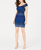 f39f32260a6 GUESS Danna Ribbed Off-The-Shoulder Bodycon Dress