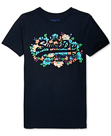 Cotton Floral Puffy Graphic T-Shirt