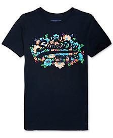 Superdry Cotton Floral Puffy Graphic T-Shirt