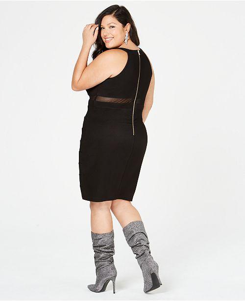 476a3c2f1 Emerald Sundae Trendy Plus Size Illusion Bandage Dress & Reviews ...