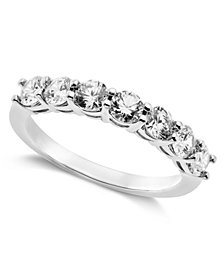 Arabella Sterling Silver Ring, Swarovski Zirconia 7-Stone Ring (2-1/6 ct. t.w.)